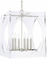 Crystorama 8876-PN Drake Contemporary Polished Nickel Foyer Lighting Fixture