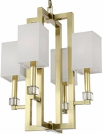 Crystorama 8884-AG Dixon Aged Brass Hanging Pendant Light