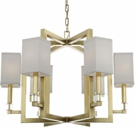 Crystorama 8886-AG Dixon Aged Brass Mini Chandelier Lamp