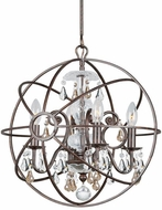 Crystorama 9025-EB-GS-MWP Solaris English Bronze Mini Chandelier Light