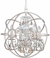Crystorama 9025-OS-GS-MWP Solaris Olde Silver 17 Ceiling Chandelier