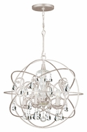 Crystorama 9026-OS-CL-MWP Solaris Medium Clear Crystal Olde Silver Ball Cage Pendant Light Fixture