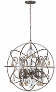 Crystorama 9028-EB-GS-MWP Solaris English Bronze Hanging Chandelier