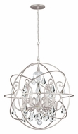 Crystorama 9028-OS-CL-MWP Solaris Large Contemporary Olde Silver Ball Cage Clear Crystal Pendant Light