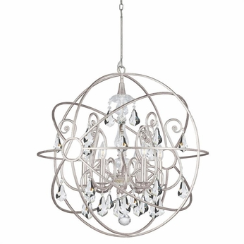 Crystorama 9028-OS-CL-S Solaris Olde Silver Clear Swarovski Strass Chandelier Light