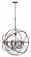 Crystorama 9219-EB-CL-MWP Solaris Clear Crystal 40 Inch Diameter English Bronze 6 Lamp Chandelier