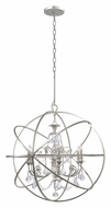 Crystorama 9219-OS-CL-MWP Solaris 6 Lamp 40 Inch Diameter Olde Silver Modern Chandelier - Clear Crystal