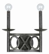 Crystorama 9242-EB Odette 12 Inch Wide English Bronze 2 Lamp Wall Lighting Sconce - Transitional