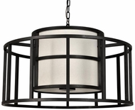Crystorama 9595-MK Hulton Contemporary Matte Black Drum Hanging Pendant Light
