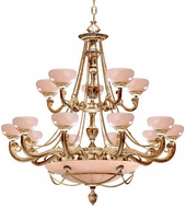 Crystorama 960-WH Natural Alabaster Traditional French White 48 Chandelier Light