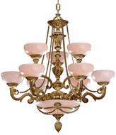 Crystorama 968-WH Natural Alabaster Traditional French White 34 Chandelier Lighting