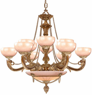 Crystorama 969-WH Natural Alabaster Traditional French White 40 Lighting Chandelier