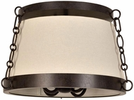 Crystorama 9800-CZ Ellis Charcoal Bronze Overhead Light Fixture