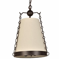 Crystorama 9813-CZ Ellis Charcoal Bronze Hanging Light Fixture