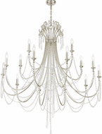 Crystorama ARC-1919-SA-CL-MWP Arcadia Antique Silver 46 Chandelier Lighting