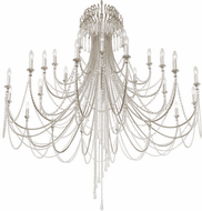 Crystorama ARC-1929-SA-CL-MWP Arcadia Antique Silver 61 Chandelier Lamp