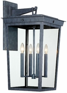 Crystorama BEL-A8064-GE Belmont Graphite Outdoor 14 Wall Sconce Lighting