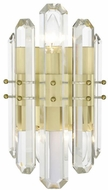 Crystorama BOL-8882-AG Bolton Aged Brass Wall Light Fixture