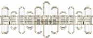 Crystorama BOL-8883-PN Bolton Polished Nickel Bathroom Light