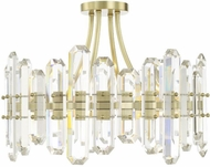 Crystorama BOL-8884-AG Bolton Aged Brass Flush Mount Lighting Fixture