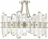 Crystorama BOL-8884-PN Bolton Polished Nickel Flush Ceiling Light Fixture