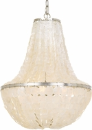 Crystorama BRI-3006-SA Brielle Contemporary Antique Silver Foyer Lighting Fixture