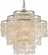 Crystorama BRI-3008-SA Brielle Modern Antique Silver Hanging Pendant Light