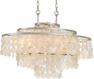 Crystorama BRI-3009-SA Brielle Contemporary Antique Silver Island Light Fixture