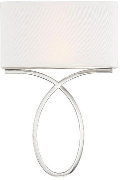 Crystorama BRK-A3702-PN Brinkley Contemporary Polished Nickel Wall Mounted Lamp