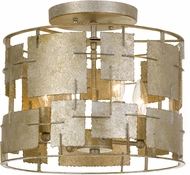 Crystorama BRO-4864-OX Bronson Contemporary Oxidized Silver Flush Mount Light Fixture