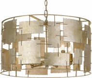 Crystorama BRO-4866-OX Bronson Modern Oxidized Silver Drum Pendant Hanging Light