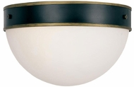 Crystorama CAP-8503-MK-TG Capsule Modern Matte Black / Textured Gold Exterior Ceiling Lighting