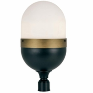 Crystorama CAP-8509-MK-TG Capsule Contemporary Matte Black / Textured Gold Outdoor Post Lighting