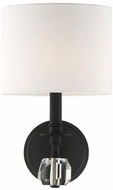 Crystorama CHI-211-BF Chimes Black Forged Wall Lamp