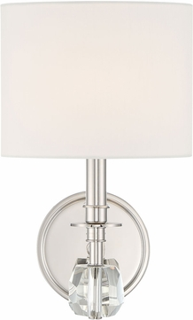 Crystorama CHI-211-PN Chimes Polished Nickel Wall Sconce Lighting