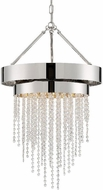 Crystorama CLA-A3205-PN-CL-MWP Clarksen Polished Nickel Mini Hanging Chandelier
