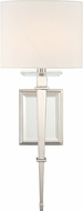 Crystorama CLI-231-PN Clifton Polished Nickel Lighting Wall Sconce
