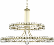 Crystorama CLO-8890-AG Clover Aged Brass Ceiling Chandelier