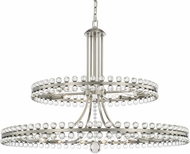 Crystorama CLO-8890-BN Clover Brushed Nickel Hanging Chandelier