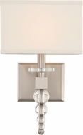 Crystorama CLO-8892-BN Clover Brushed Nickel Wall Sconce Lighting