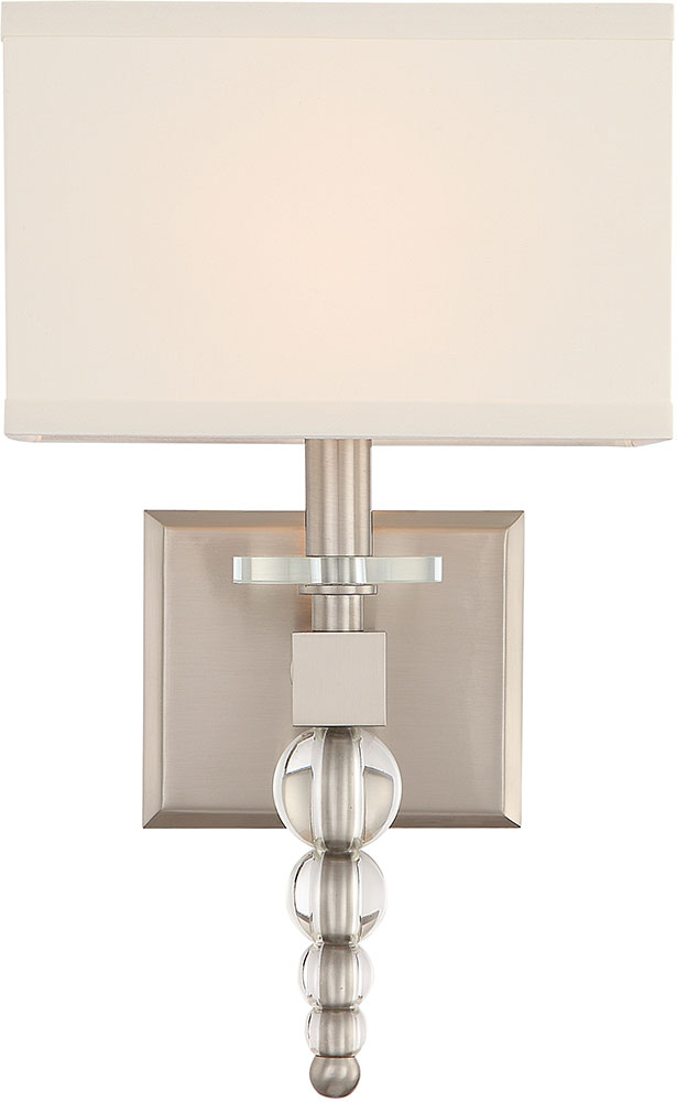 Crystorama Clo 8892 Bn Clover Brushed Nickel Wall Sconce Lighting