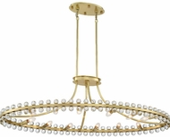 Crystorama CLO-8897-AG Clover Aged Brass Kitchen Island Lighting