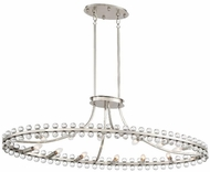Crystorama CLO-8897-BN Clover Brushed Nickel Kitchen Island Light