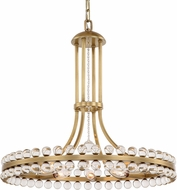 Crystorama CLO-8898-AG Clover Aged Brass 22.5  Chandelier Light