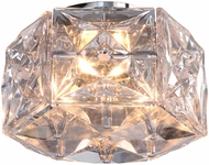 Crystorama COL-7905-CH Collins Polished Chrome Flush Mount Ceiling Light Fixture