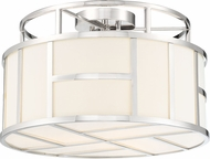 Crystorama DAN-400-PN Danielson Contemporary Polished Nickel Overhead Light Fixture