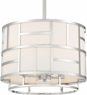 Crystorama DAN-404-PN Danielson Contemporary Polished Nickel 17  Drum Drop Ceiling Lighting