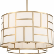 Crystorama DAN-406-VG Danielson Modern Vibrant Gold 25  Drum Drop Ceiling Light Fixture
