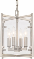 Crystorama DAN-8794-BN Danbury Brushed Nickel 9  Entryway Light Fixture
