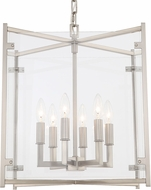 Crystorama DAN-8798-BN Danbury Brushed Nickel 16  Foyer Light Fixture